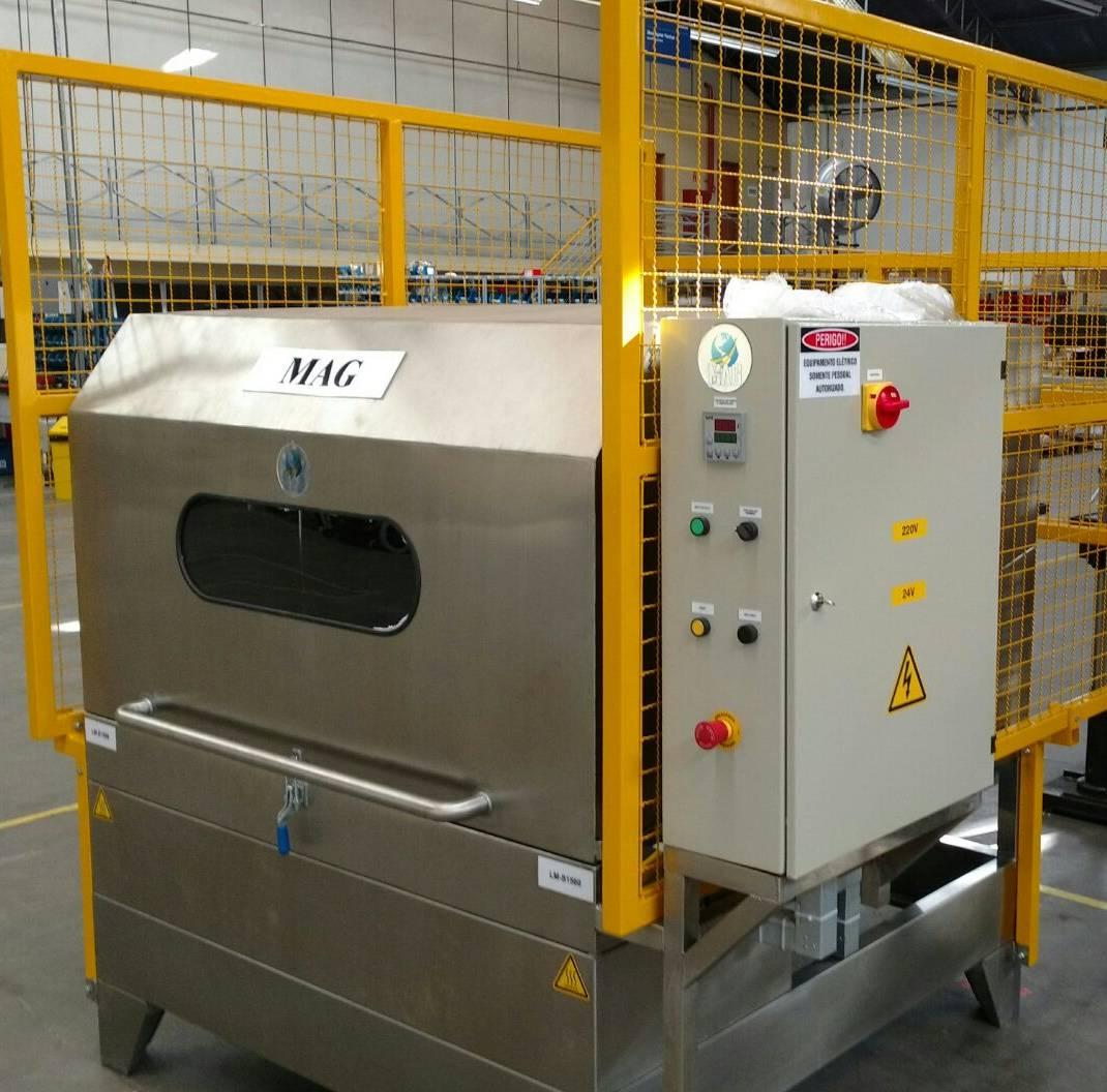 LAVADORA DE PEÇAS MODELO LM (lavadora de mesa rotativa)