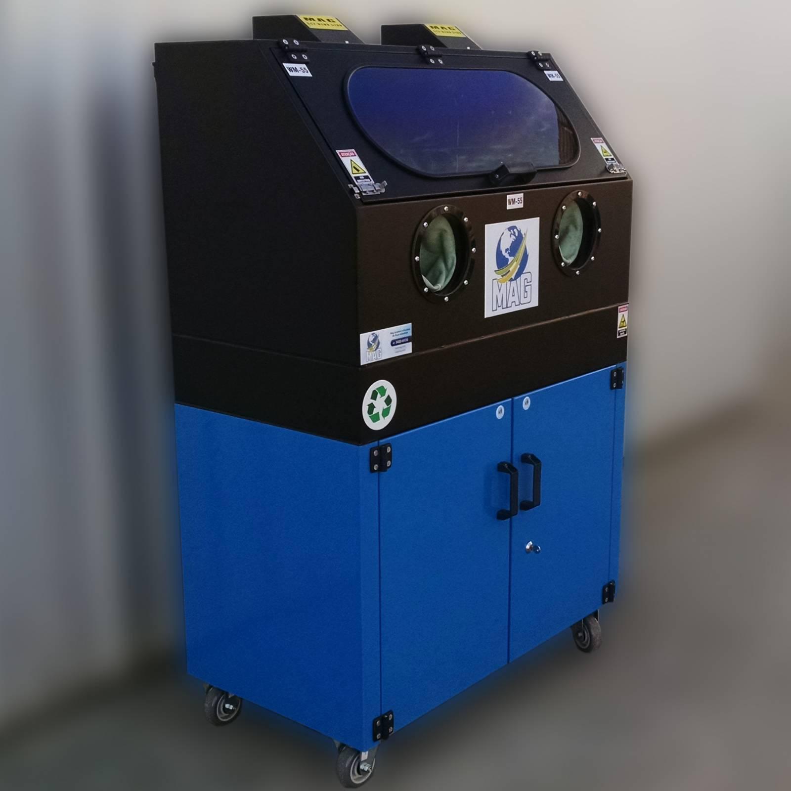 C) - WM-55 Lavadora de peças tamanho médio para oficina mecânica.
