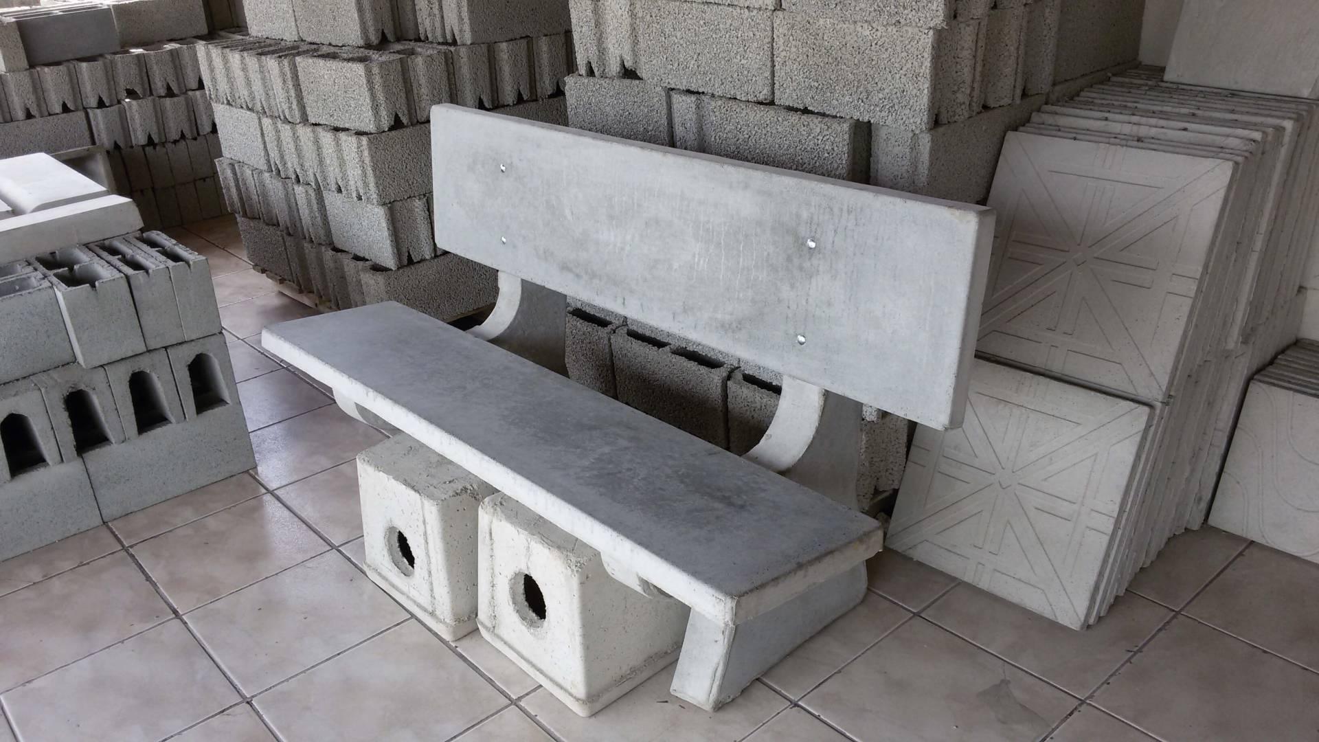 Banco de concreto cuboguia - Bancos de cemento ...