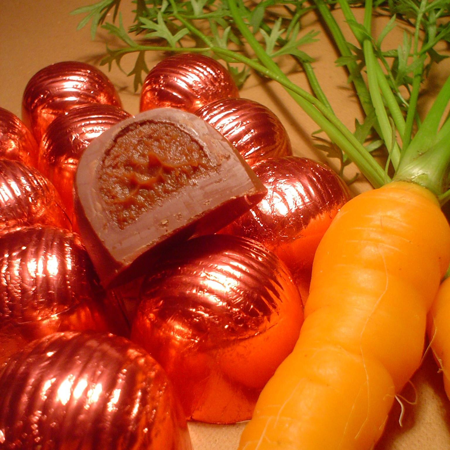 Bombom de creme - cenoura