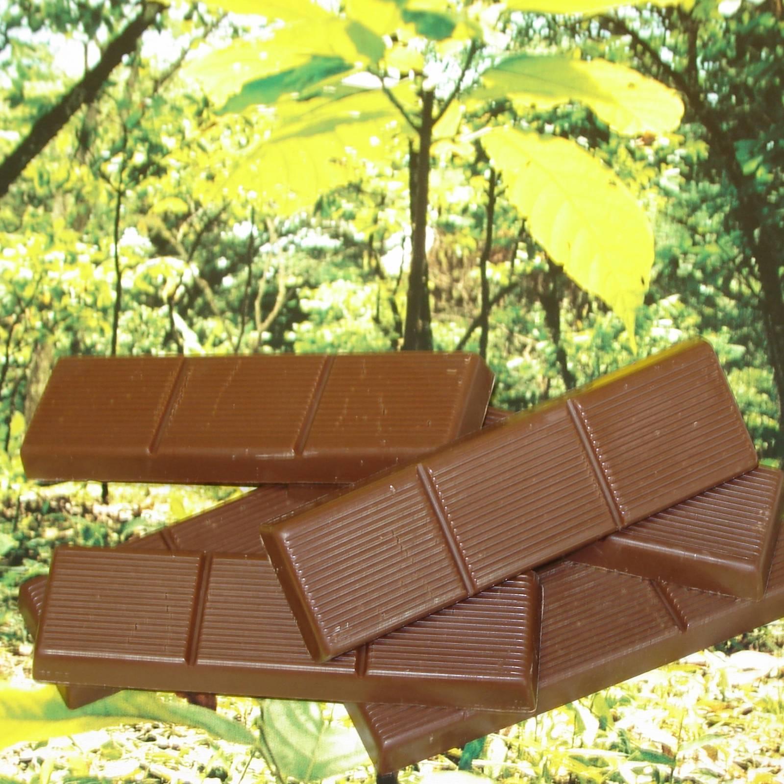 Barras 25g de chocolate
